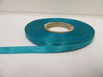 Dark Turquoise Green Satin ribbon Double sided 3mm 7mm 10mm 15mm 25mm 38mm 50mm Rolls Bows